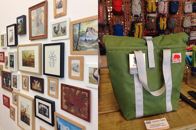 wall images and lunch tote