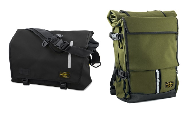 Life Behind Bars Echelon Messenger and Peloton Rolltop Backpack