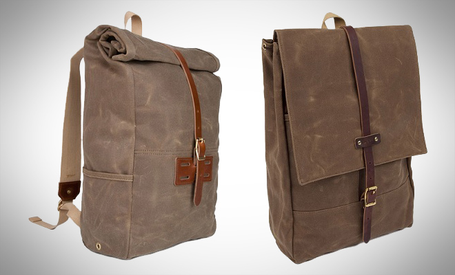 Archival Roll Top Backpack and Rucksack