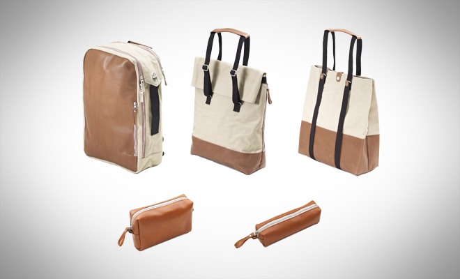 QWSTION Brown Leather Canvas series