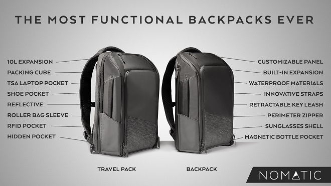 NOMATIC Backpack and Travel Pack