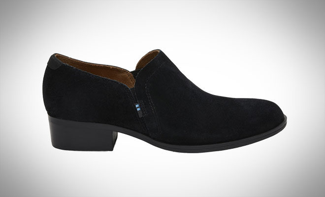 TOMS Black Suede Shaye Booties