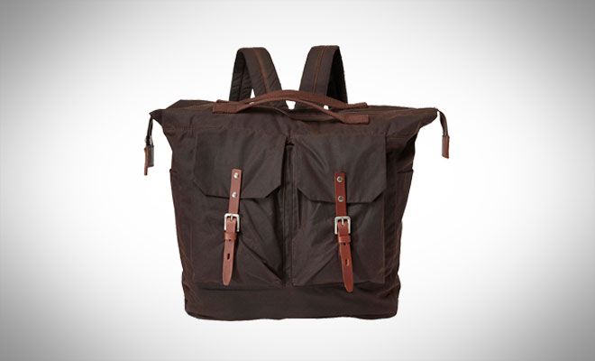 Ally Capellino Frank Large Waxed Cotton Utility Rucksack
