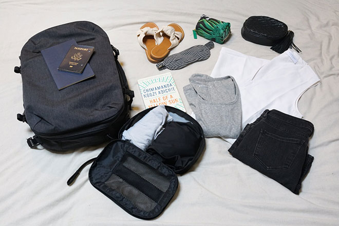 Travel capsule wardrobe