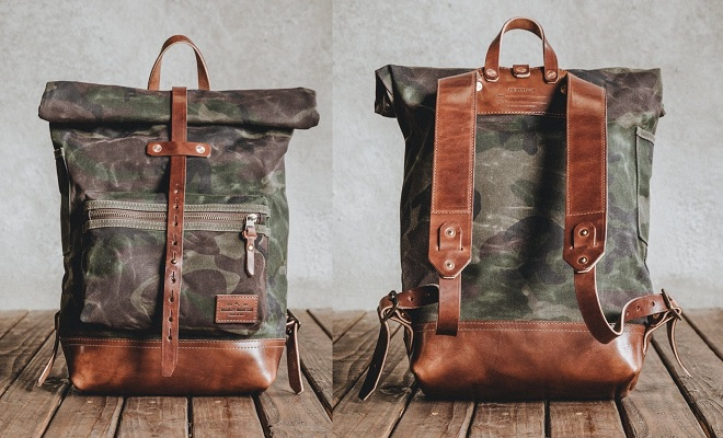 Best waxed canvas backpacks: Bradley Mountain The Biographer